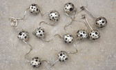 Burnished Sterling Silver Abstract Modernist Necklace Er's Spheres Circles Holes