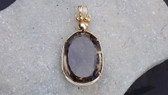 Amazing Huge 275+ Carat Weight Faceted Smoky Quartz Gemstone Pendant Necklace