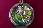 Steampunk STERLING Silver Ladies Victorian POCKET Watch MINI Fairy KITTY Face