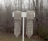 1956 STATEMENT Rhinestone Earrings 100's of Rhinestones Old Hollywood Glam