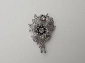 RARE Alfred Philippe TRIFARI Flower Trembler Fur Clip PIN Pave Rhinestones 1939