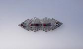 Art Deco Rhinestone Jewels  Duette Style Pin Channel Set Baguettes