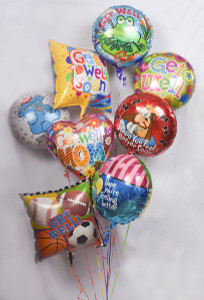 Get Well Soon balloon samples