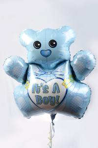 "Teddy bear 36"" mylar balloon, choose from boy or girl"