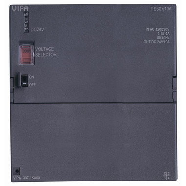 307-1KA00 - PS307 Power Supply, 100-240VAC Input, 24VDC Output, 10A. Replacement for Siemens 6ES7307-1KA02-0AA0