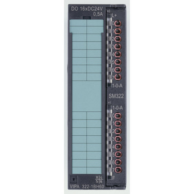 322-1BH60 - SM322 Digital Output, 16DO, 24VDC, 0.5A, Switchable. Replacement for Siemens 6ES7- 323-1BL00-0AA0