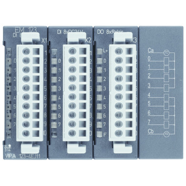 123-4EJ11 - EM123 Expansion Module, 16DI 24VDC, 8 Relay Out 230VAC/30VDC