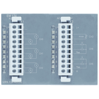 134-4EE00 - EM123 Expansion Module, 3AI Voltage or Current, 1AI RTD, 2AO Voltage or Current