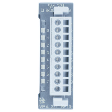 221-1BF10 - SM221 Digital Input, 8DI, 24VDC, 0.2ms Delay