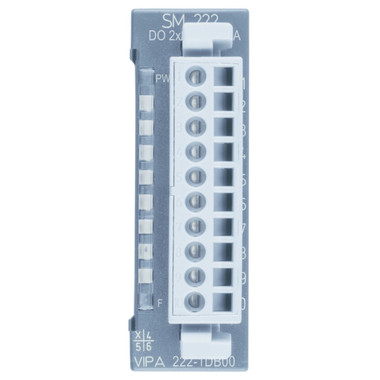 222-1DB00 - SM222 Digital Output, 2DO, 100-240VAC, 2A, Resistive, Inductive or Capacitive