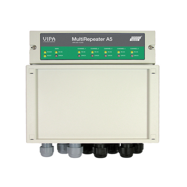 The ProfiHub MultiRepeater A5 is perfect for PROFIBUS DP networks which have strict spur line/star network rules