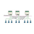 Example of the PROFIBUS DP Spur MultiRepeater A5 in the network