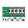 In addition the the B5-R features, the Multi-channel PROFIBUS repeater features a built-in diagnostic device