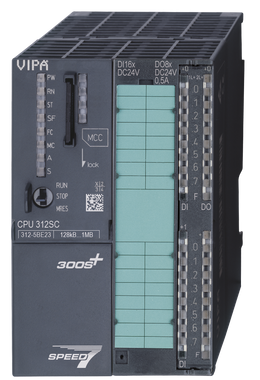 VIPA 312-5BE23 | CPU312SC, SPEED7, 128KB, 16DI, 8DO, PtP Interface, Configurable in TIA Portal. Replacement for Siemens 6ES7312-5BF04-0AB0