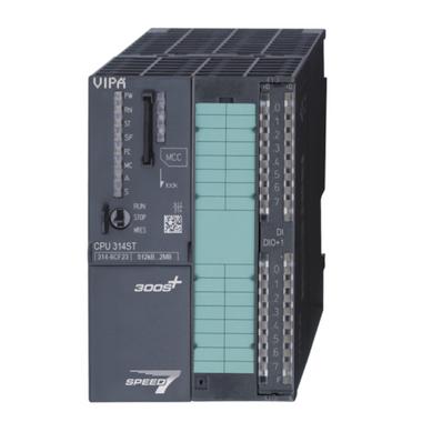 SPEED7 314 CPU - VIPA 314-6CF23, 8DI, 8DIO, 4AI, 4AO, 1AI, 512kB. Replacement for Siemens 6ES7-317-2AK14-0AB0