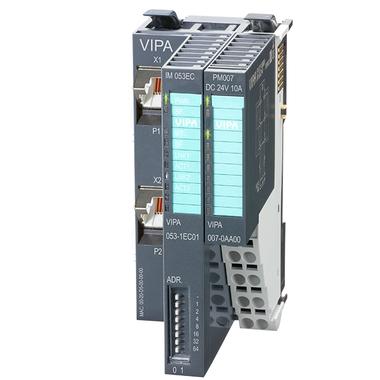 VIPA EtherCAT Slave Interface Module - IM053C 053-1EC01 - 3D View with 007-0A00