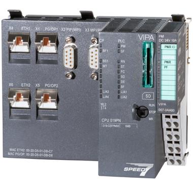 VIPA SLIO 019 PROFINET CPU, STEP7 programmable - 019-CEFPM00