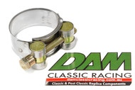 37121000.2 Benelli Exhaust Pipe Clamp stainless/yellow zinc 35mm