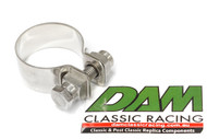 37120100 Laverda Exhaust Pipe Clamp Stainless HD 35mm