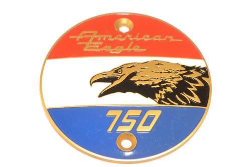Left Side Laverda Badge 'AMERICAN EAGLE' ø72mm with screw holes