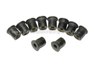 RUBBER FAIRING SCREW NUT M6x13x16