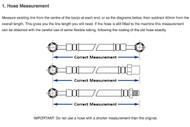 How to measure brake hose length