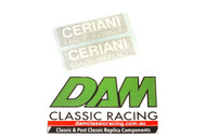 61953011 Decal Ceriani White on Black