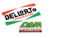61953408 Decal Sticker Dellorto Carburatori 125x65