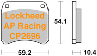47207081.31 METALGEAR Brake Pads Organic 30-216, AP Racing 2696 Caliper