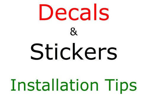 Decal Sticker Installation Tips