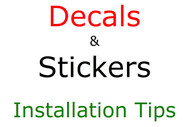 Decal Sticker Installation Tips