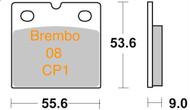 47207009.21 FERODO RACE Pads Ceramic (CP1) FDB108, Brembo 08 Caliper