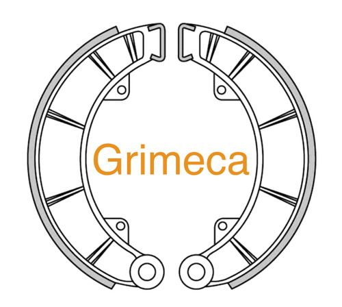 200mm Brake Shoes with 5mm Lining-Grimeca