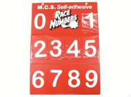 Race Numbers Board 110mm Junior White