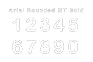 Race Numbers: Arial Rounded MT Bold WHITE (Senior)