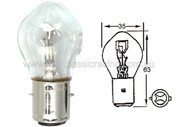 Vintage Headlight Bulb 12V 35/35W Euro Base