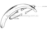 Laverda Mudguard Fender Support 2/SET