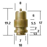N149.040 Mikuni Needle & Seat- Metal Tip