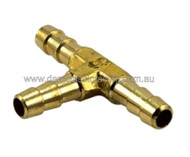 Fuel T Piece 3 Way Brass P1404