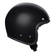Matt Black open face helmet