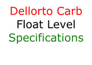 Dellorto Float Level Specifications