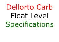 Dellorto Float Level Specifications