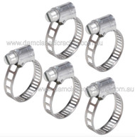 Narrow band mini hose clamp 7-11