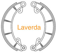 Laverda Brake Shoe with Lining drum dia 230mm