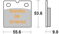 47207009.32 METALGEAR Brake Pads Sintered 30-137-S, Brembo 08 Caliper