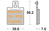 47207056.31 METALGEAR Brake Pads Organic 30-084, Brembo 05 Caliper