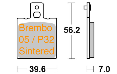 LV047002000037 Brake Pads Sintered for Brembo P-32 Caliper