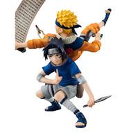 G.E.M. series remix Naruto Shippuden Uzumaki Naruto & Sasuke PVC Figure