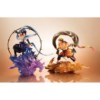 G.E.M. series remix Naruto Shippuden Uzumaki Fujin & Sasuke Uchiha Raijin SET PVC Figure (Completed)