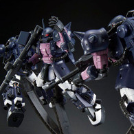 RG 1/144 MS-06R-1A Black Tri-Stars Zaku II (Triple Action Set) Plastic Model